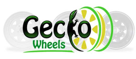 Gecko Steel Wheels – Black, White and Silver